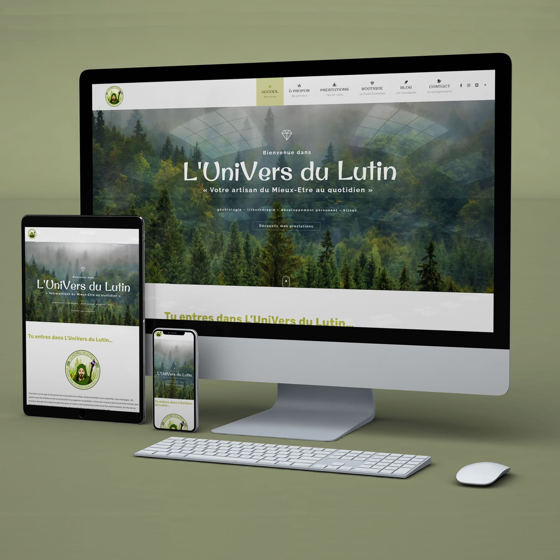 L'Univers du Lutin site web ArtCode